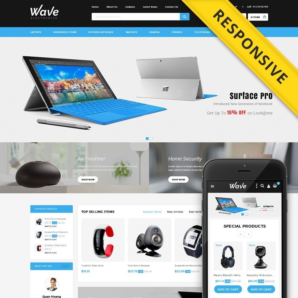 theme - Electronique & High Tech - Wave - Electronics Store - 1