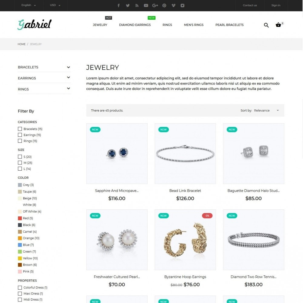 theme - Jewelry & Accessories - Gabriel - 4