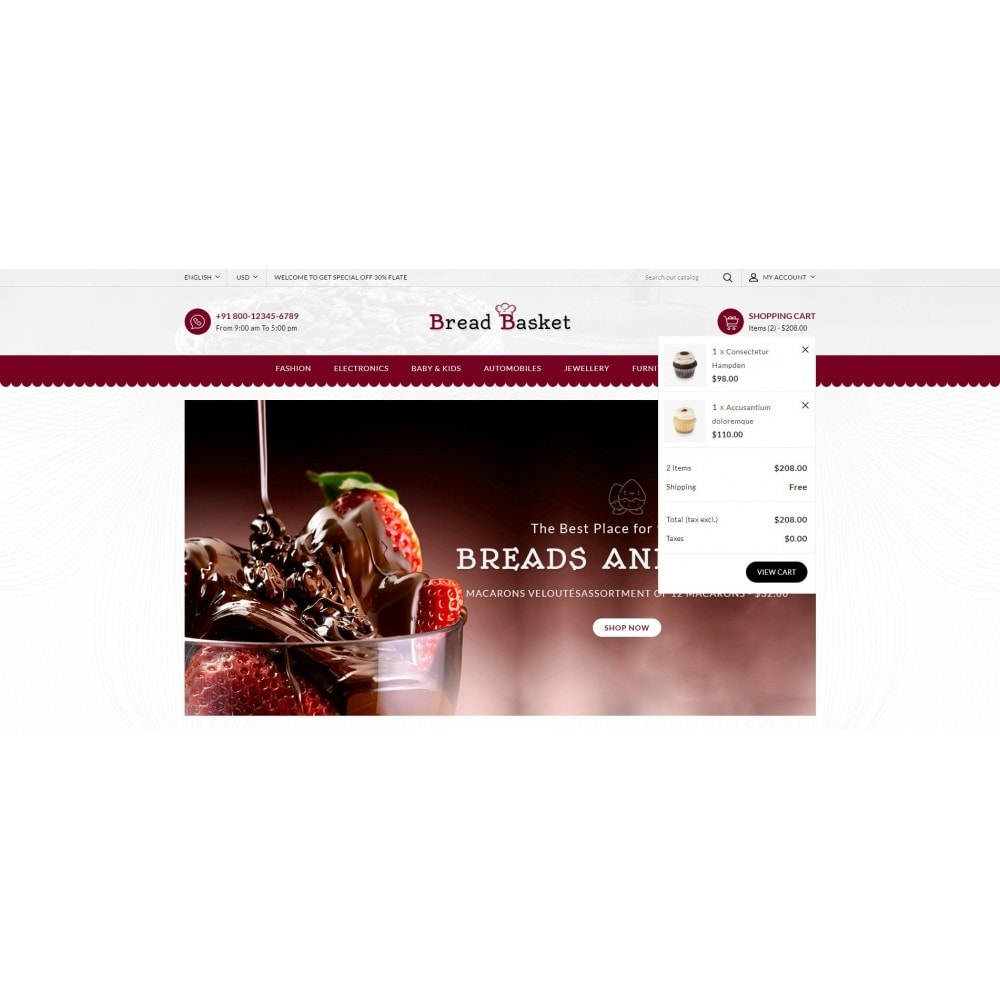 theme - Lebensmittel & Restaurants - Bread Basket - Bakery Shop - 8