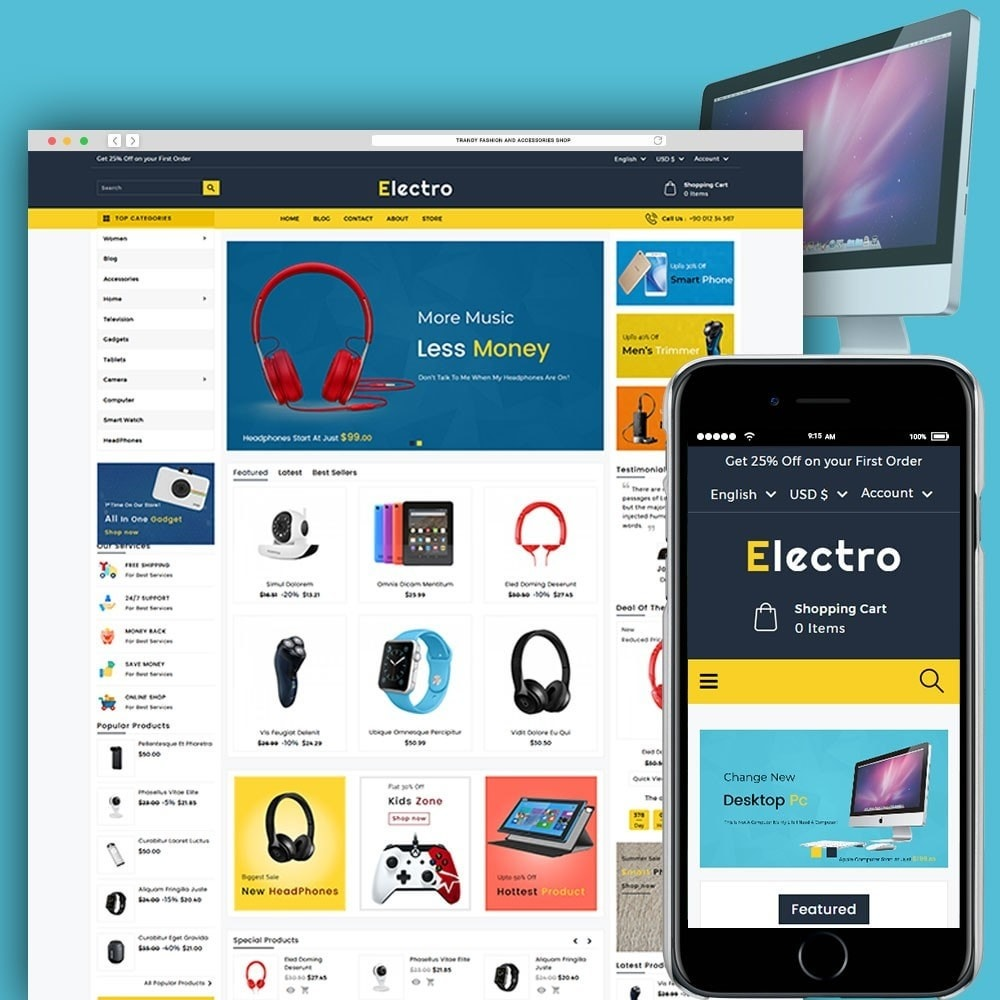 theme - Electrónica e High Tech - Electro Electronics Store - 1