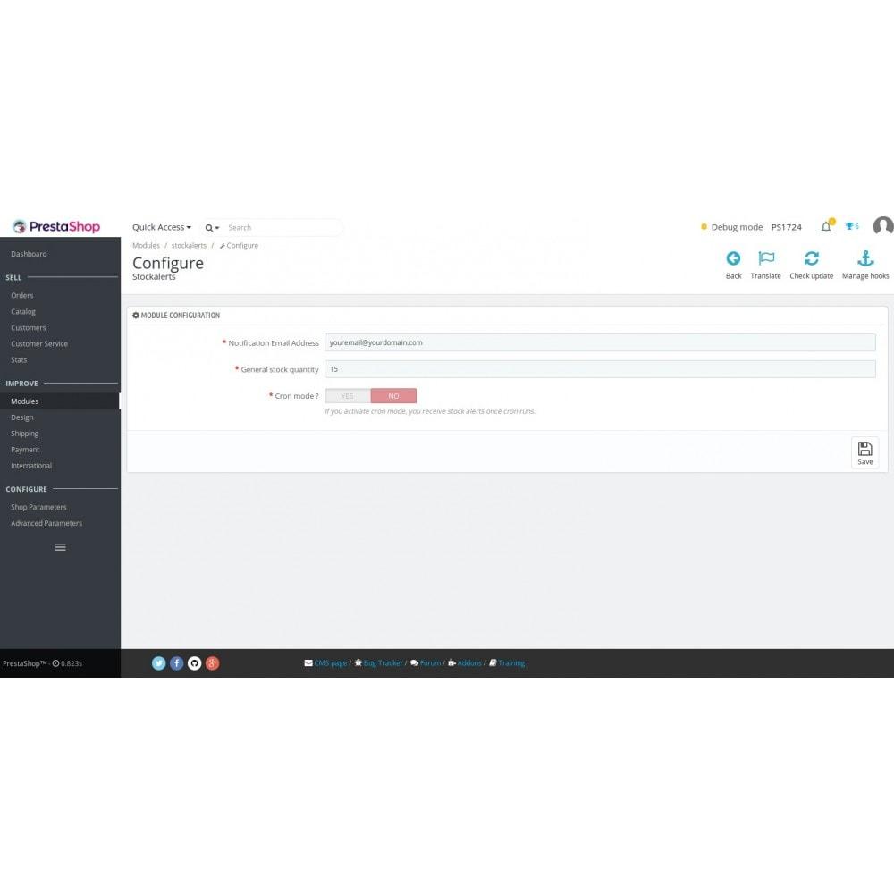 module - Bestands & Lieferantenmanagement - Stock Alerts - 3