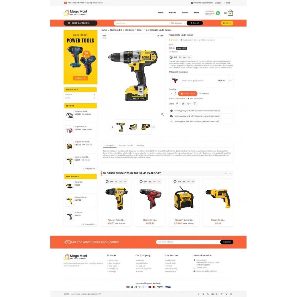 theme - Elettronica & High Tech - Mega Mart Tools Equipment - 5