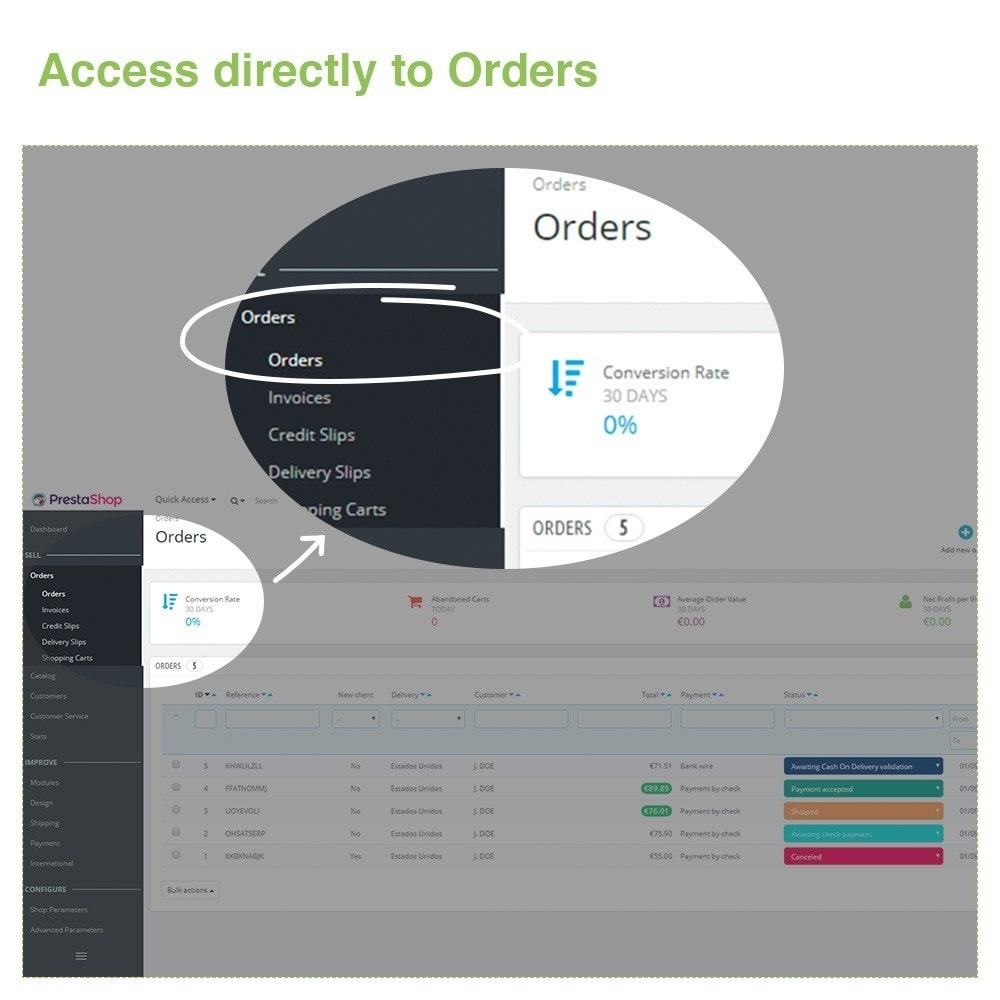 module - Order Management - Changing Order Status Directly from the Order List - 2