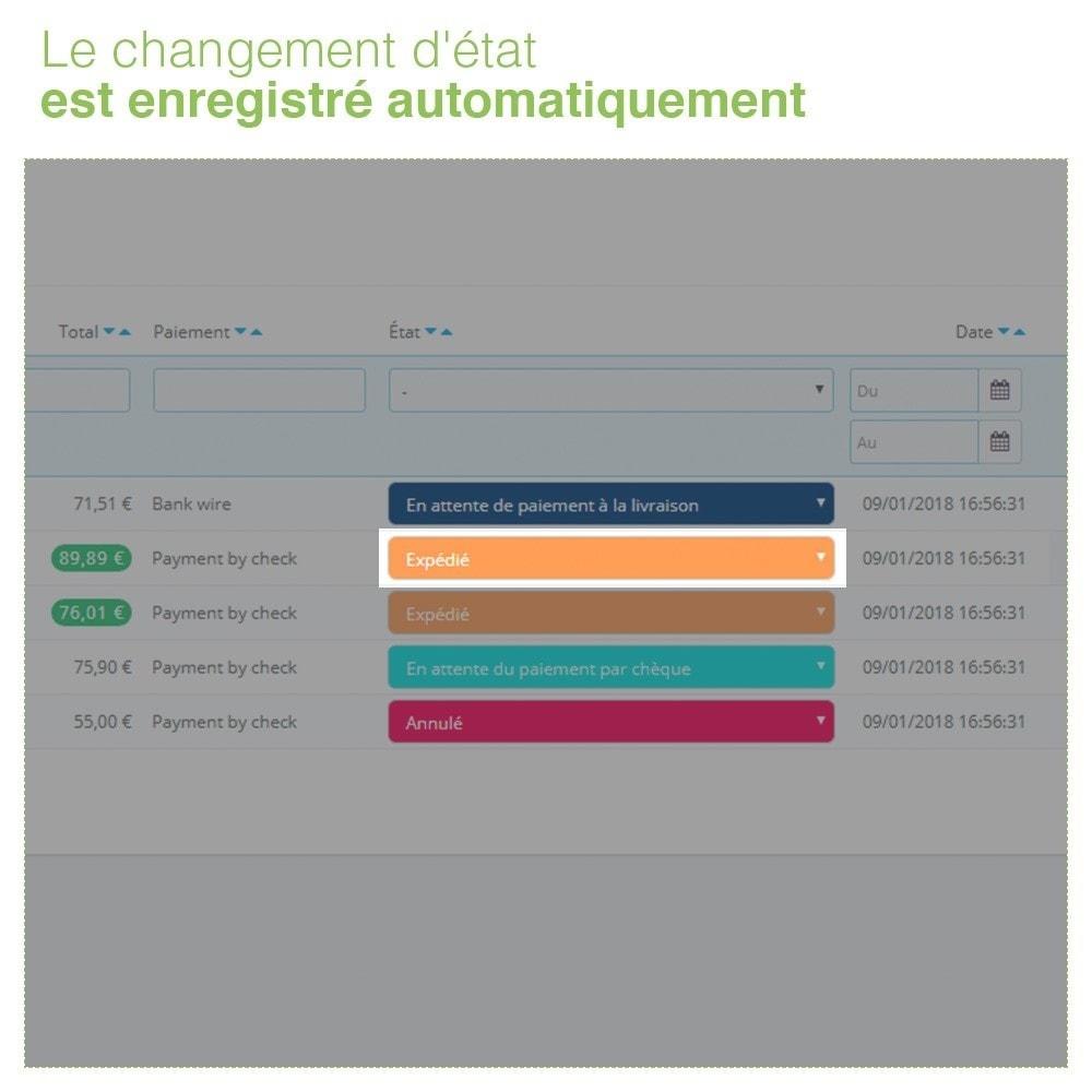 module - Gestion des Commandes - Changer État des Commandes depuis Liste des Commandes - 5
