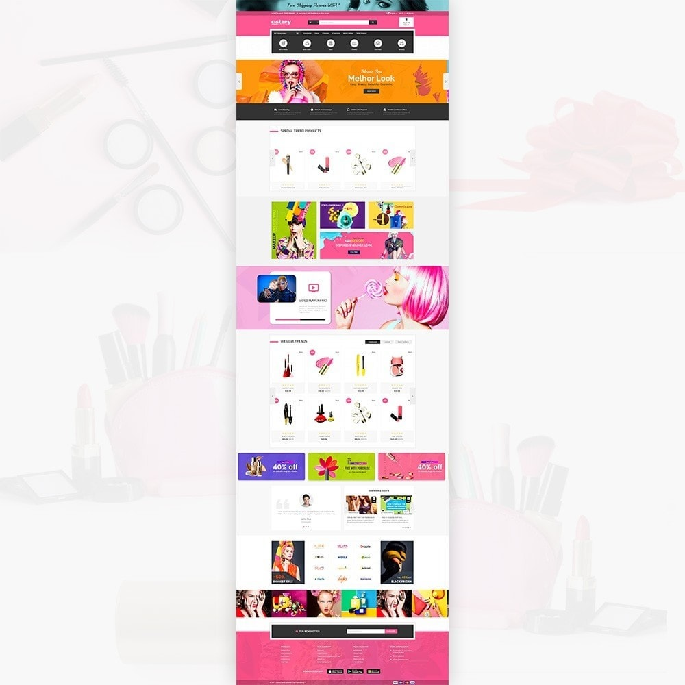 theme - Saúde & Beleza - Costary Cosmetics Beauty Super Store - 3