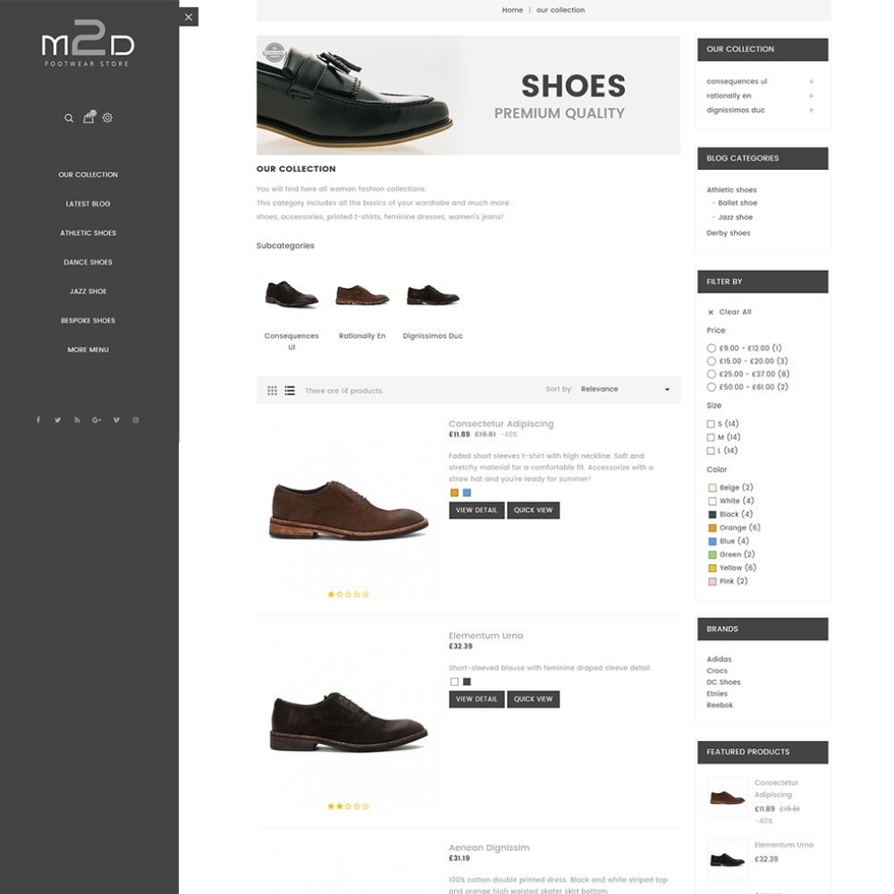 theme - Moda & Calzature - M2D Footwear - 5