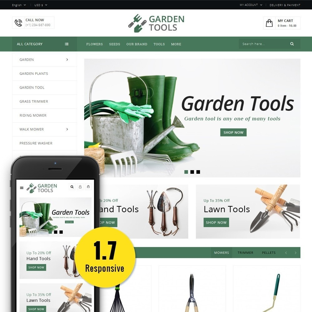 theme - Dom & Ogród - Garden Tools Store - 1