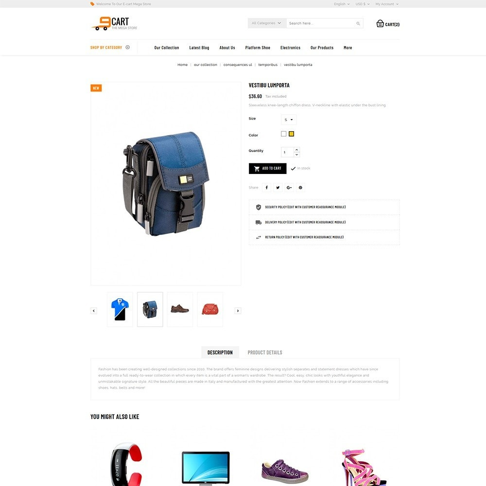 theme - Mode & Chaussures - 9cart - Mega Store - 5