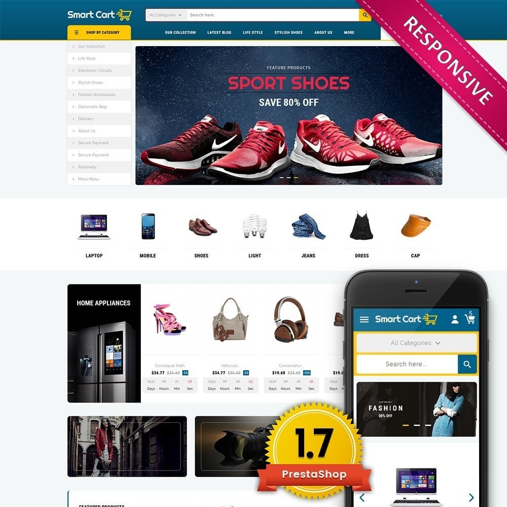 theme - Mode & Chaussures - Smartcart Mega Store - 1