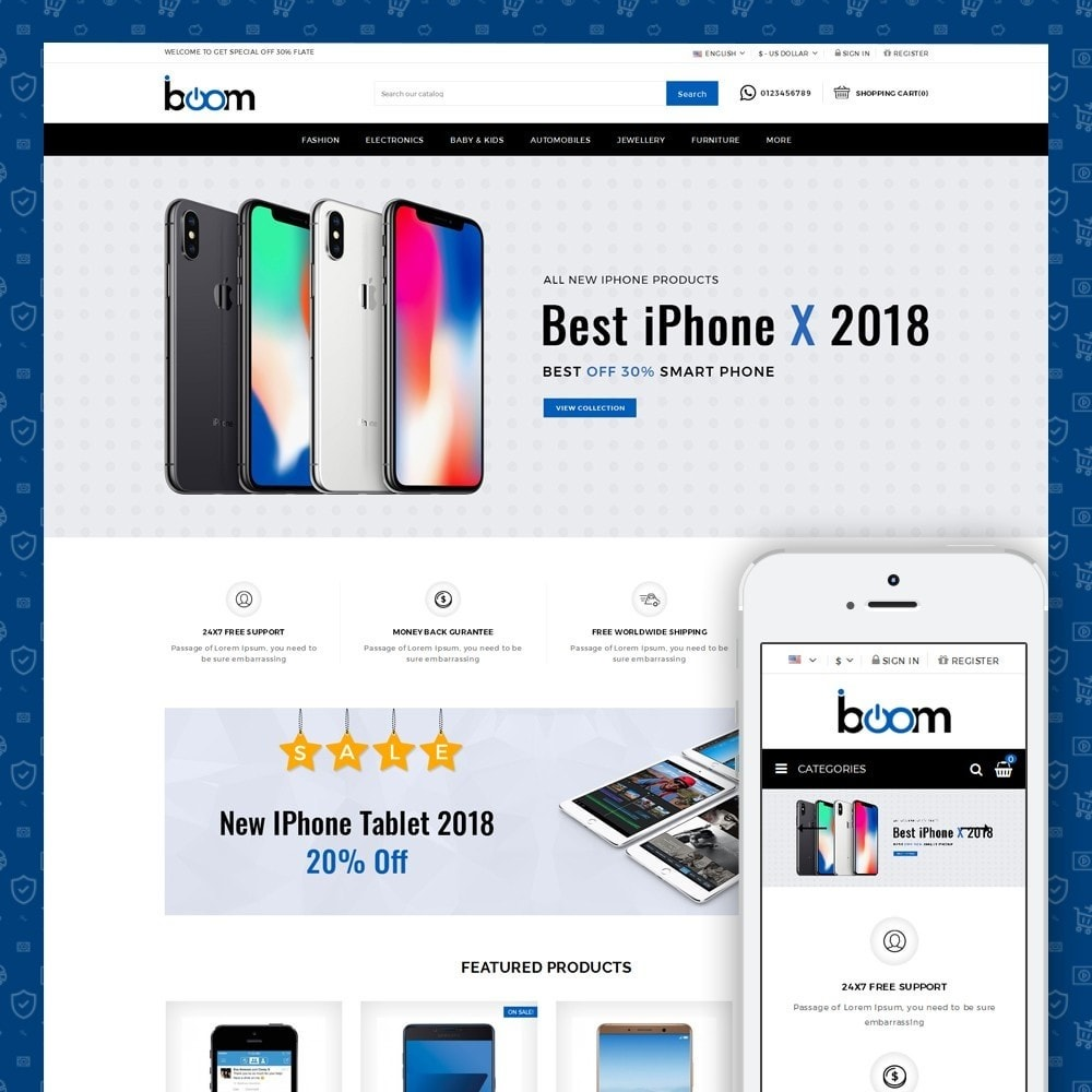 theme - Electronics & Computers - BOOM - Mobile Store - 1