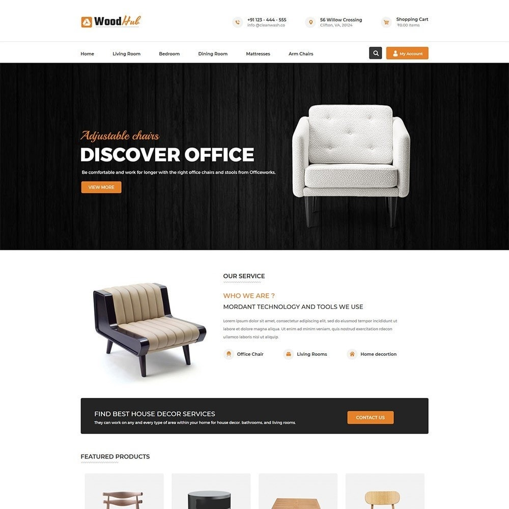 theme - Dom & Ogród - Woodhub Furniture Store - 2