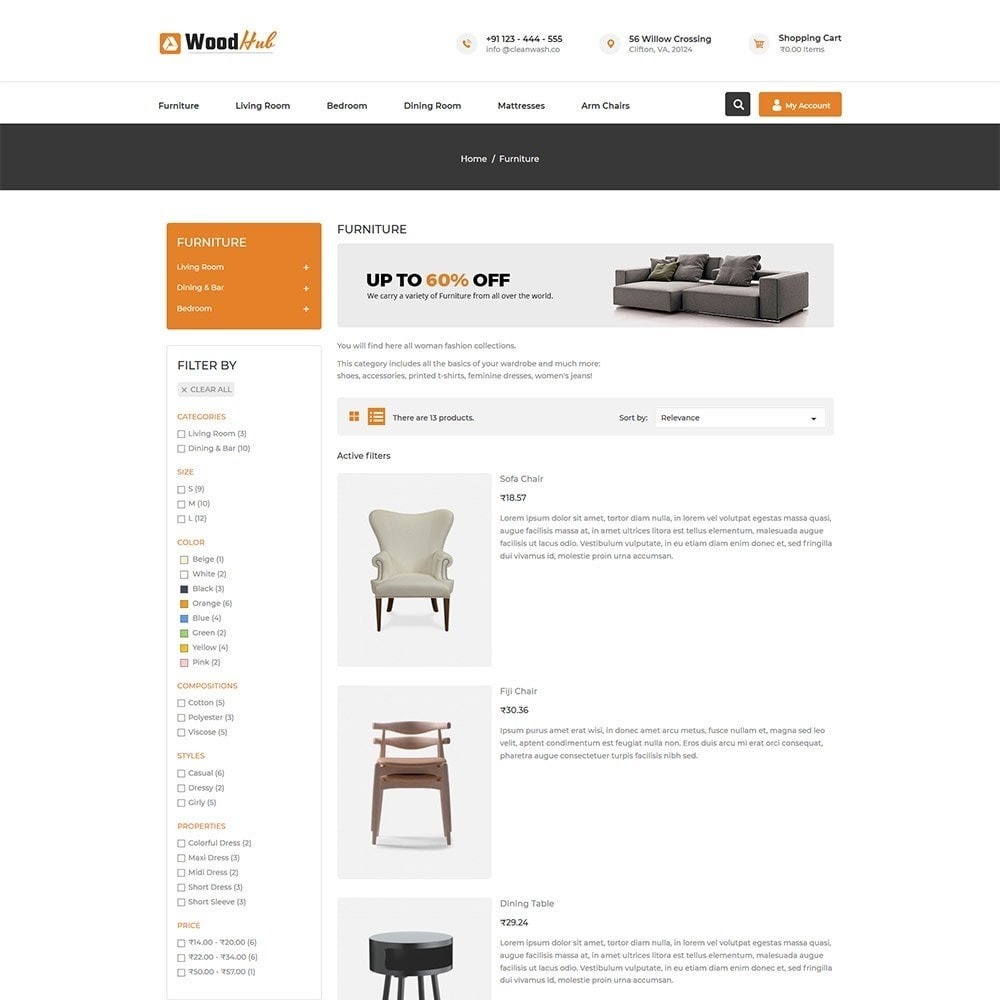 theme - Casa & Giardino - Woodhub Furniture Store - 4